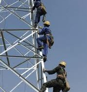 Female workers is prohibited to install high-voltage electric pylons