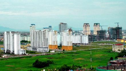 The land price bracket in urban areas