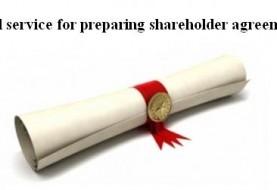 Legal service for preparing shareholder agreement