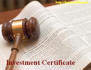 Amendment of Investment Certificate