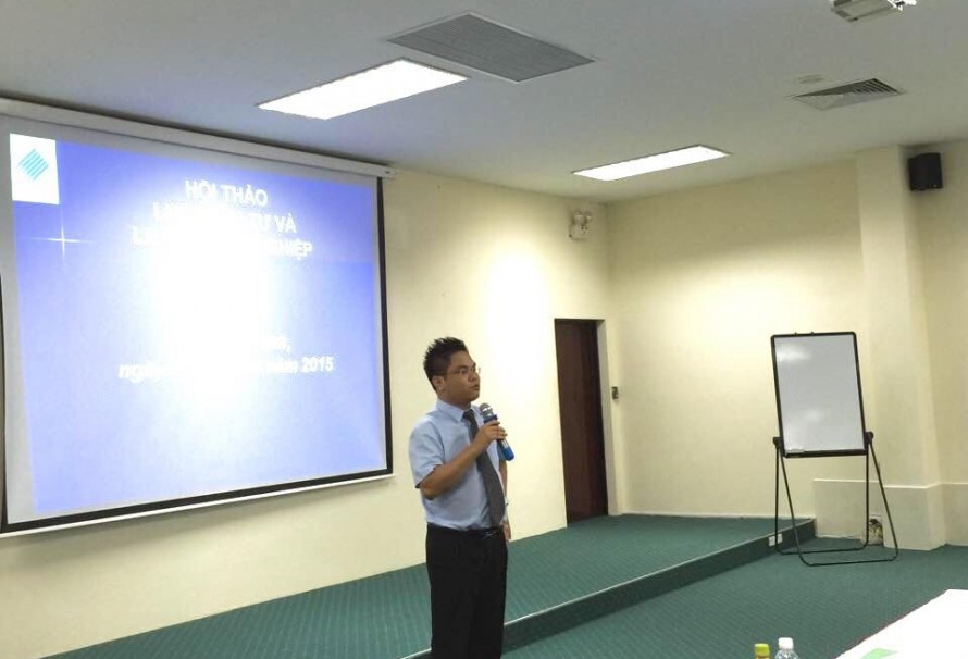 Photo: SBLAW's Lawyers had presentation on new enterprise law and investment law at VISIP Bắc Ninh