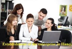 Establishment of the enterprise in Hanoi with 100% foreign capital