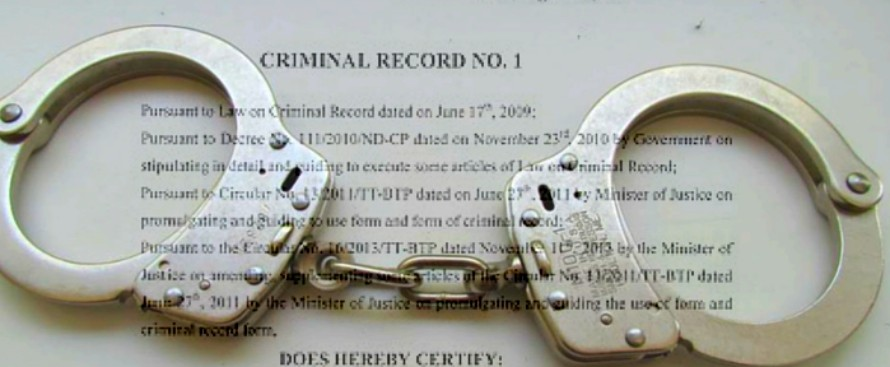 Criminal record certificate in Vietnam
